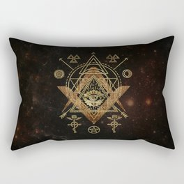 Mystical Sacred Geometry Ornament Rectangular Pillow