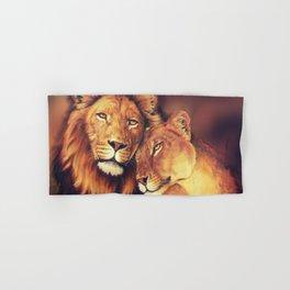Lions Soulmates Hand & Bath Towel