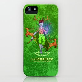 Cernunnos • Green Mage of the Forest iPhone Case
