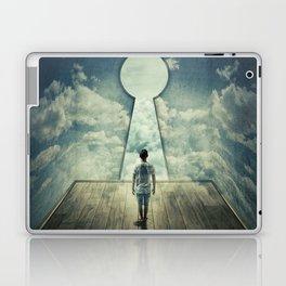 keyhole in the wall Laptop & iPad Skin