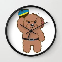 Poodle Police Wall Clock
