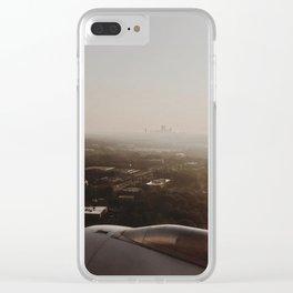 Foggy Charlotte Skyline Clear iPhone Case