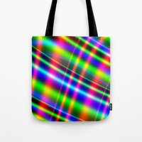 bands Tote Bags featuring Bands of Beauty by Sartoris ART