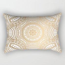 Gold Ethnic Pattern With Mandalas Rectangular Pillow