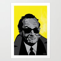 jack nicholson Art Prints featuring Jack Nicholson by Feezy Design Studio