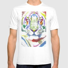 ROAR (tiger color version) Mens Fitted Tee MEDIUM White