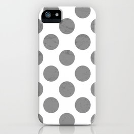 Gray Polka Dot iPhone Case