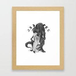 Inktober Werewolf Framed Art Print