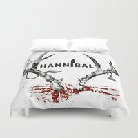 hannibal Duvet Covers featuring Hannibal  by lazergo