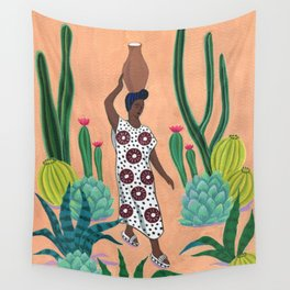 Girl with a jug Wall Tapestry