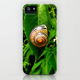 Snail on Leaf iPhone Case