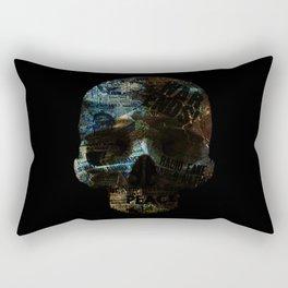 Blue Skull News Rectangular Pillow