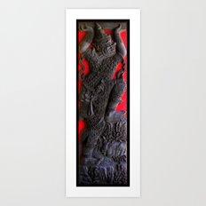 Thai Wood Carving B Art Print