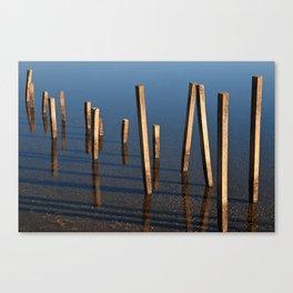 Walking Water Stilts Canvas Print