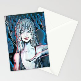Night life blue Stationery Cards