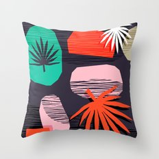 Dank - memphis style 80's throwback neon shape palm house plant retro vintage decor hipster art Throw Pillow