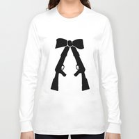 bow Long Sleeve T-shirts featuring Bow by Panic Junkie
