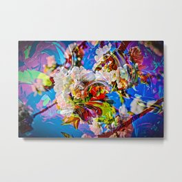 Abstract Perfection 14  Spring Metal Print