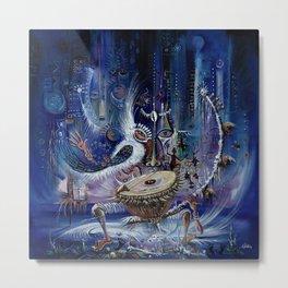 Kora Player III surreal painting from Africa Metal Print