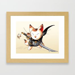 Lucky Ninja Framed Art Print