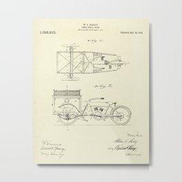 Three Wheel Truck-1914 Metal Print