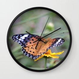 Indian Fritillary in Hangzhou Wall Clock