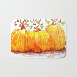 Pumpkin Patch Bath Mat