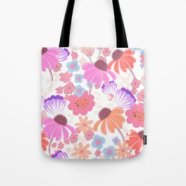 Retro Bloom 004 Tote Bag