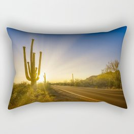 SAGUARO NATIONAL PARK Setting Sun Rectangular Pillow