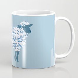 Sheep made of floral pattern Coffee Mug