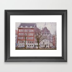 A rainy day in Amsterdam Framed Art Print