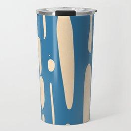 Ice Melt Stripes - Orange Sherbet on Saltwater Taffy Teal Travel Mug