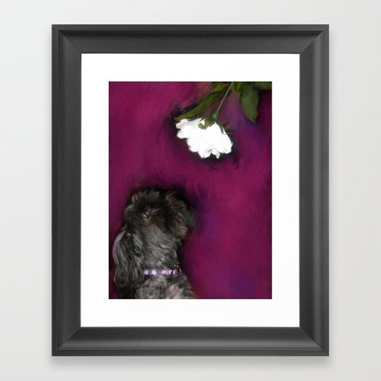 Take Time to Smell the Flowers Framed Art Print