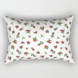 Cranberries white background Rectangular Pillow