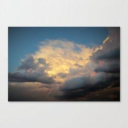 Angry Skies, Sad Goodbyes Canvas Print