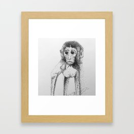 Dotted Monkey Framed Art Print