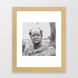Marble portrait bust of a man W1 Framed Art Print