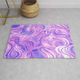 Pink & Purple Waves in the Stars Rug