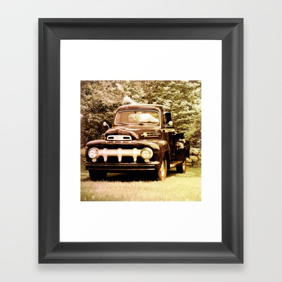 Ford in a Field Framed Art Print