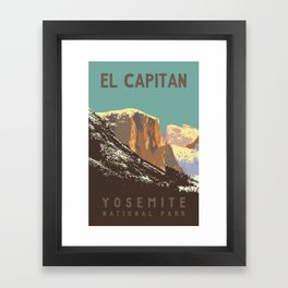Yosemite's El Capitan Framed Art Print