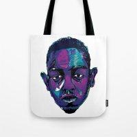 kendrick lamar Tote Bags featuring Control - Kendrick Lamar by SmartyArt Chick