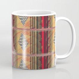 Structural stripes, rhombuses. Coffee Mug