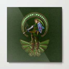 warrior link iPhone 4 5 6 7 case, pillow case, mugs and tshirt Metal Print