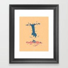 The Guy Above Framed Art Print