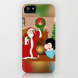 Santa Claus came to town! iPhone Case