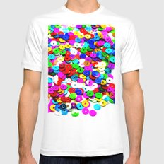 Colorburst Mens Fitted Tee White MEDIUM
