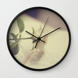 Make time to smell the roses Wall Clock
