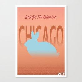 Chicago Rabbit Canvas Print