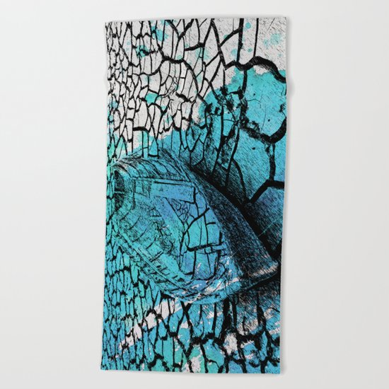 SEA ON DRY GROUND Beach Towel