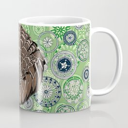 pangolin mandala leaf Coffee Mug